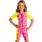 Child Swimwear Rash Swim Suit Short Sleeve UV Sun Protection UPF50 Sz 2-4-6-8