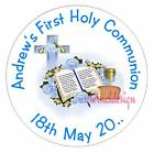 PERSONALISED HOLY COMMUNION CIRCLE STICKERS FAVOUR (Buy 2 get 1 free) CMCS 1