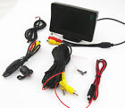 4.3 Inch Car LCD Colorful Monitor Screen & 170 Degree Waterproof Rearview Camrea