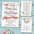 Package Deal: Wedding Invitation, RSVP Card & Poem Card *White Wood Barn Bunting