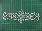 SILVER IRON ON EMBROIDERED APPLIQUE PATCH COSTUME #45