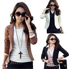 New Come Fashion Womens OL Jacket Coat Lapel One Button Long Sleeve Suit Blazer