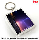 Crystal Clear Acrylic Plastic Blank Keyrings Insert Your Own Photo Passport Key