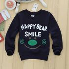 HAPPY FACE Baby Boy Kids Long Sleeve LETTERS T-Shirt Tops Shirts Sweater Clothes