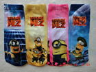 4 Pairs 5-12Y Children Kids Disney Despicable Me Cotton Cartoon Minions Socks
