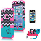 Wave Anchor Pattern Heavy Duty Best Impact Protective Case Cover for iPhone 5C