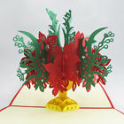 Happy Birthday Merry Christmas Valentine Greeting Card 3D Pop Up Flower Bouquet
