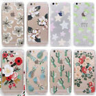 Beautiful Flowers Fruit Pineapple Clear TPU Soft Case Cover For iPhone  Samsung