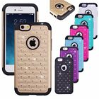 iPhone 6 Bling Case Glittering Rhinestones Cover Dual Layer Hard/Soft Protector