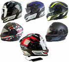 VIPER RSV8 STEREO MP3 MATT BLACK FULL FACE MOTORCYCLE MOTORBIKE HELMET