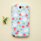 Cute Molang Phone Hard Back Skin Case Cover for Smart Phone - Strawberry Pattern