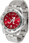 Alabama Crimson Tide Stainless Steel Watch Anochrome Mens or Ladies Red Dial