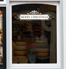 MERRY CHRISTMAS Shop Window Sticker Xmas Festive Retail Decoration Decal Graphic