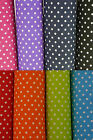 Polka Dot Fabric 7mm 100% Cotton Fine Shabby Chic Spot Dress Craft 1m 112cm 44""