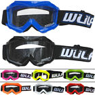 Wulfsport Kids CUB Motorbike Motocross MX Goggles Quad ATV Red Pink Blue