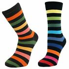 Mens Boys Thick Striped Mid Calf Ankle Crew Short Stripey Socks New Lot