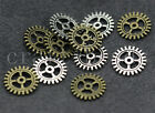 Free shipping 20/80/400pcs Antique Silver Gear Jewelry Charms Pendant DIY 10mm