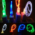 1x For Apple iPhone 5 5s 6 LED Light Micro USB Charger Data Cable Sync Line WUS