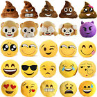 NEW UK EMOJI EMOTION YELLOW ROUND CUSHION STUFFED PILLOW PLUSH SOFT TOYS DECOR