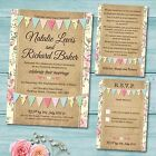 Package Deal: Wedding Invitation, Rsvp Card & Gift Poem Card *pastel Bunting