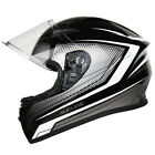 Leopard LEO-602 DVS Open Face Scooter Motorbike Motorcycle Helmet Matt Black