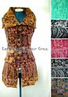 -25% WINE Fluffy BUTTON WAISTCOAT Jacket Hippy STEAMPUNK Ladie EXTRA LARGE 10 18
