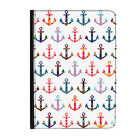 Patchwork Anchors Pattern Nautical Universal Tablet 7* Leather Flip Case Cover