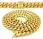 NEW MEN HEAVY 18mm 14K GOLD FINISH MIAMI CUBAN LINK CHAIN NECKLACE / BRACELET