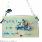 First Christmas Personalised Hanging New Baby Snowman Door Plaque Sign Gift 1st