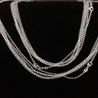 Fashion and Beautiful 2mm Silver Plated Rolo Necklaces 16-30inches Party Present