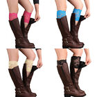 Womens Girls Ladies Stretch Lace Flower Trim Boot Cuffs Leg Warmers Toppers Sock