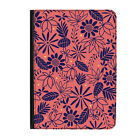 """Summer Flowers Pattern Floral Pink Universal Tablet 7"""" Leather Flip Case Cover"""
