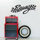Checkered Racing - Sports Man Cave Kids Room Wall Decals