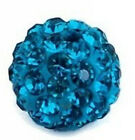 Hot 8mm 10mm 12mm Disco Ball Pave CZ Crystal Beads fFit For Shamballa Bracelet
