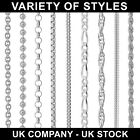 """925 STERLING SILVER 14 16 18 20 22 24 26 28 30"""" INCH CHAIN NECKLACE CURB ROPE"""