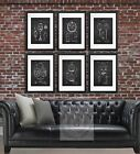 Halloween Decor wall art set of 6 Unframed Vintage Jack o lantern Patent Art