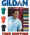 100 Gildan T-SHIRTS BLANK BULK LOTS Colors or 100 White Plain S-XL Wholesale 50