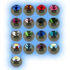 Titanium Jewelled Ball 1.6mm 14g Choose Gem Colour Size 3mm 4mm 5mm 6mm