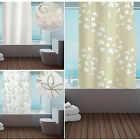 New Designer Ring Top Hookless Shower Curtains – Beige Cream – Polyester Fabric