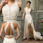 Sexy Womens Lace Evening Formal Bridesmaid Wedding Ball Gown Prom Party Dress