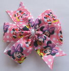 Minnie Mouse Hair Bows - Clips & Bobbles - Pink & White Polka Dots