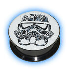 1 Star Wars Plug Candy Skull Style Stormtrooper Ear Plugs Stretched Lobe 6-25mm
