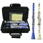 New Senior Clarinet Bb 17 Key With Case Care Kit Beginner Musical Instruments