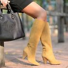 ZARA NEW A/W 2015/16. CAMEL SAND LEATHER COWBOY BOOTS SHOES. REF 6004/001.