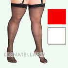 PLUS SIZE SHEER STOCKINGS Petite to Tall long thigh highs BRIDAL 26 28 30 32
