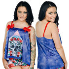 Too Fast Trinity PJ Set DOTD Pyjamas Goth Skeleton Sleepwear