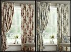 Daylia Lined Curtains Floral Flowers Bouquet Rose Ready Made Pair Pencil Pleat