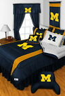 Michigan Wolverines Bed in a Bag Valance Curtains Twin Full Queen King Size