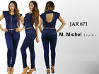 Colombian Design Pushup Levanta Cola Skinny Jean Jardinero Jumper Overall JAR671