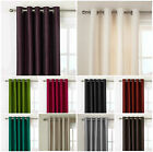 LUXURY FAUX SILK CURTAINS READY MADE EYELET, RING TOP FULLY LINED INC TIE BACKS